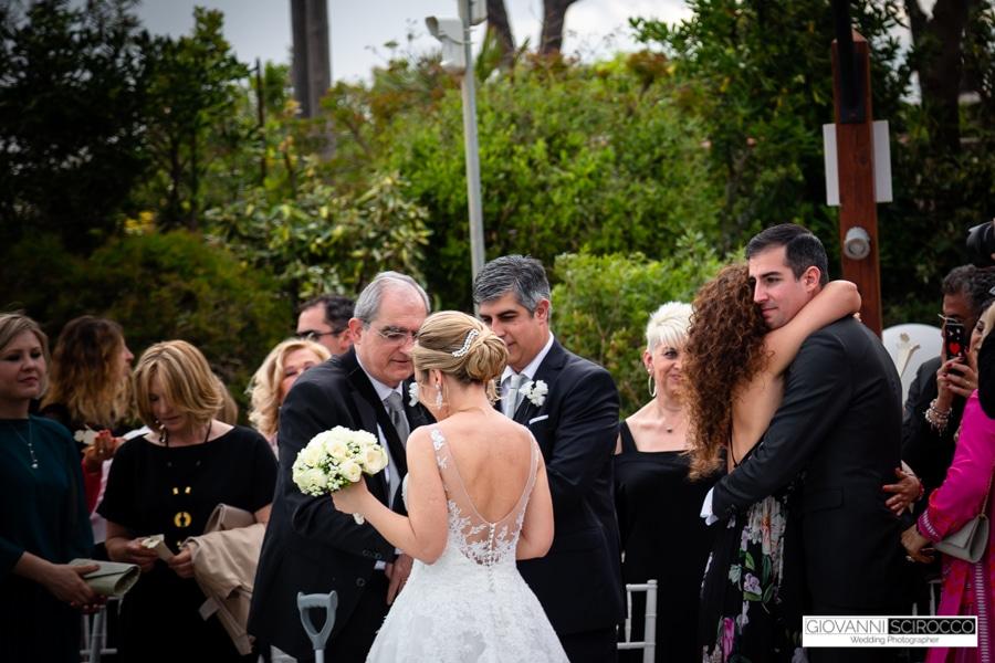 Abbracci Sposi Villa Luciana Terracina