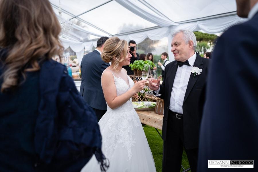Brindisi della Sposa con il papà