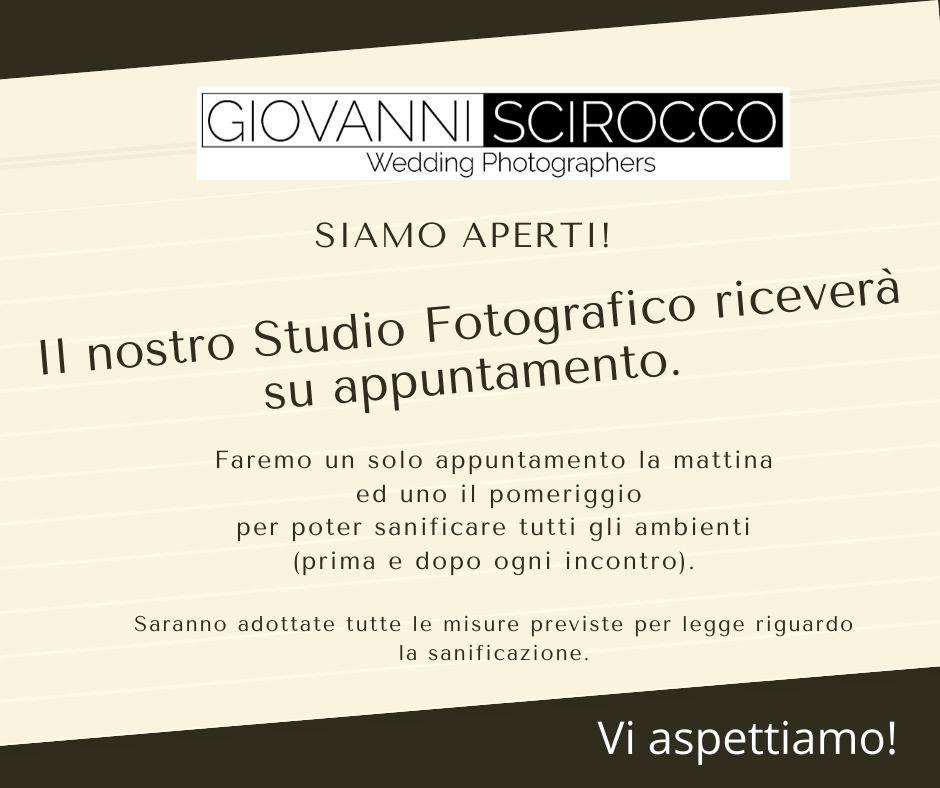 SIAMO APERTI!                         Il nostro Studio Fotografico riceverà su appuntamento.