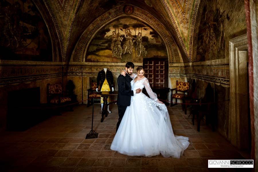 wedding in an Italian castle