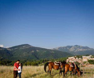 Prematrimoniale a cavallo Simone+Monia