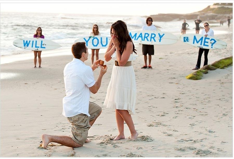 proposta di matrimonio in spiaggia
